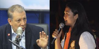 Marco Arana - Keiko Fujimori - Foto: Ideeleradio - Facebook Fuerza Popular