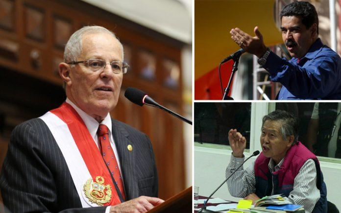 Pedro Pablo Kuczysnki - Nicolás Maduro - Alberto Fujimori - Foto: Congreso - La República