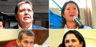 Alan García - Keiko Fujimori - Ollanta Humala - Nadine Heredia - Foto: Ideeleradio