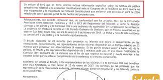 Caso El Frontón - Corte IDH pide al Estado que informe sobre acusación constitucional contra miembros del TC