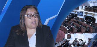Giovanna Peñaflor - Pleno del Parlamento Foto: Congreso