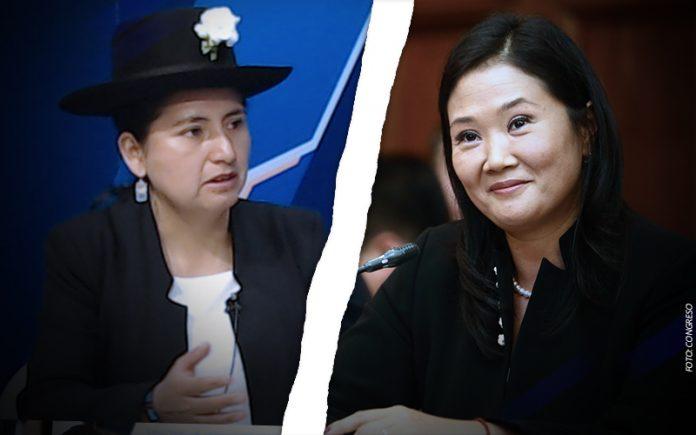 Tania Pariona - Keiko Fujimori - Foto: Congreso