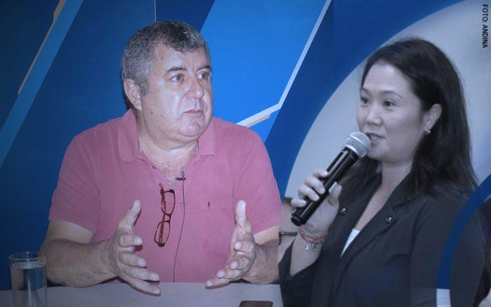 Juan Carlos Tafur - Keiko Fujimori (Foto: Andina)