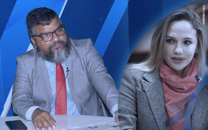 Julio Arbizu - Luciana León (Foto: Congreso)