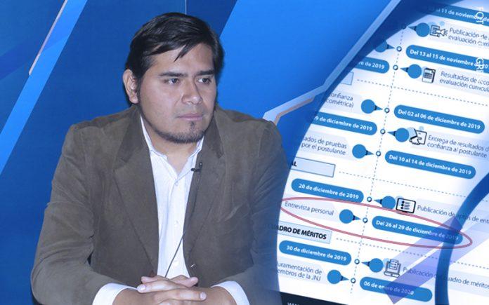 Luis Purizaga - Cronograma de la Comisión Especial (Fuente: Comisión Especial para la JNJ)