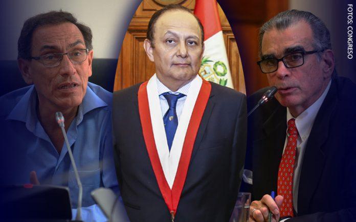 Martín Vizcarra - Walter Gutiérrez - Pedro Olaechea (Foto: Congreso)