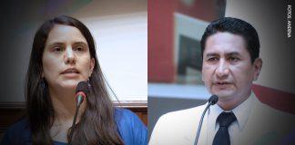 Verónika Mendoza - Vladimir Cerrón (Fotos: Andina)
