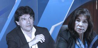Javier Torres - Martha Chávez (Foto: Congreso)