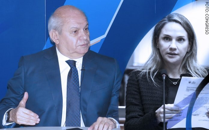 Pedro Cateriano - Luciana León (Foto: Congreso)