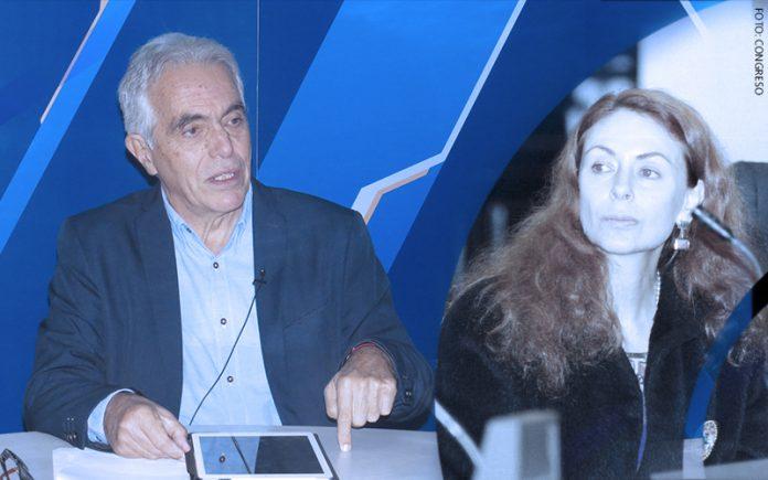 Diego García Sayán - Eliane Karp (Foto: Congreso)