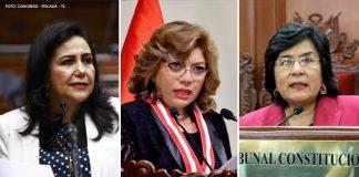 Gloria Montenegro - Zoraida Ávalos - Marianella Ledesma - Foto-Congreso-Fiscalía-Tribunal Constitucional