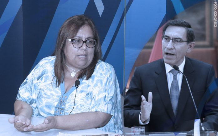 Giovanna Peñaflor - Martín Vizcarra (Foto: Congreso)