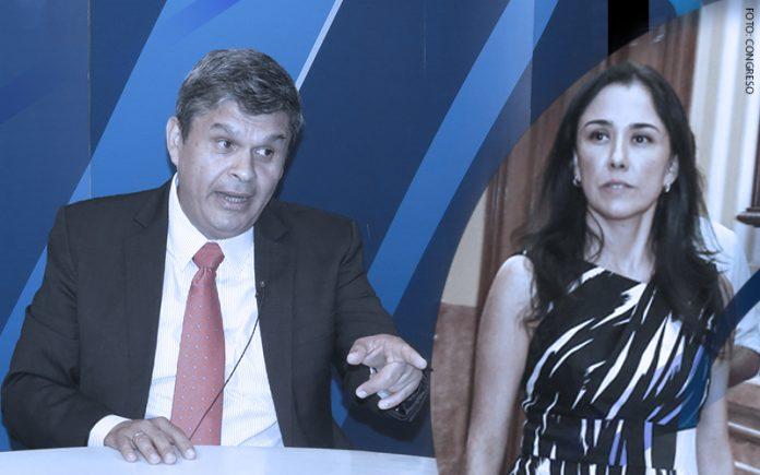 Santiago Gastañadui - Nadine Heredia (Foto: Congreso)