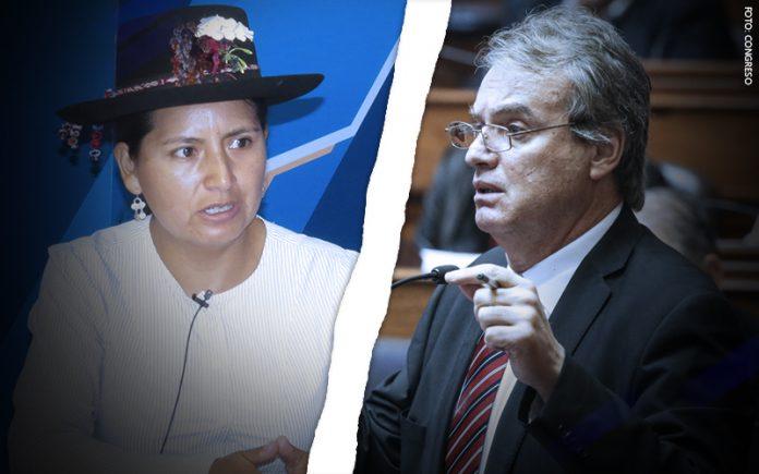 Tania Pariona - Carlos Basombrío (Foto: Congreso)