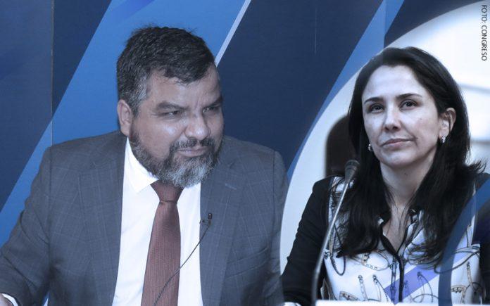 Julio Arbizu - Nadine Heredia (Foto: Congreso)