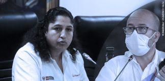 Fabiola Muñoz - Víctor Zamora (Foto: Congreso - Presidencia)