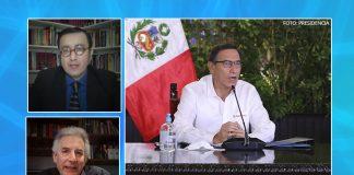 Glatzer Tuesta - Álvaro Vargas Llosa - Martín Vizcarra (Foto: Presidencia)