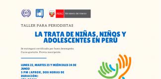 """TALLER """"La Trata de Niñas, Niños y Adolescentes en Perú"""""""