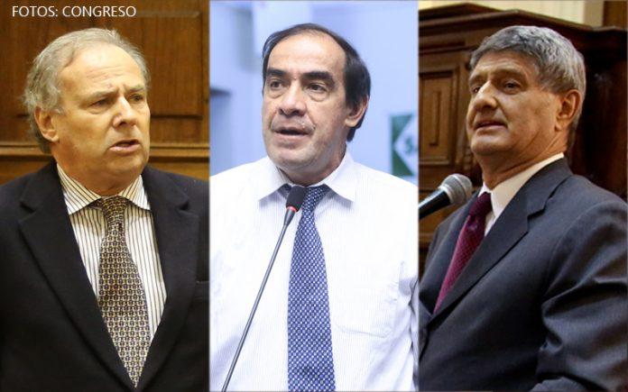 Alfredo Barnechea - Yonhy Lescano - Raúl Diez Canseco (Fotos: Congreso)