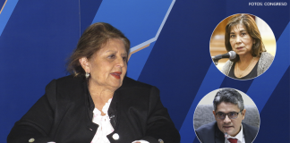 Carmen González - Martha Chávez - José Domingo Pérez (Fotos: Congreso)