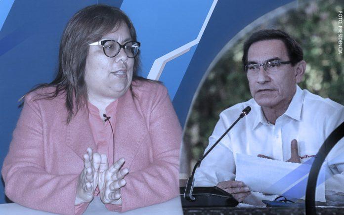 Giovanna Peñaflor - Martín Vizcarra (Foto: Presidencia)