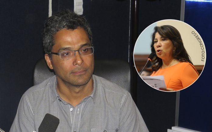 Sandro Venturo - Martha Chávez (Foto: Congreso)