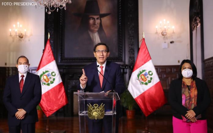 Walter Martos - Martín Vizcarra - Ana Neyra (Foto: Presidencia)