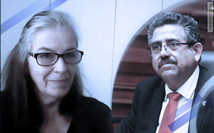 María Emma Mannarelli - Manuel Merino de Lama (Foto: Congreso)