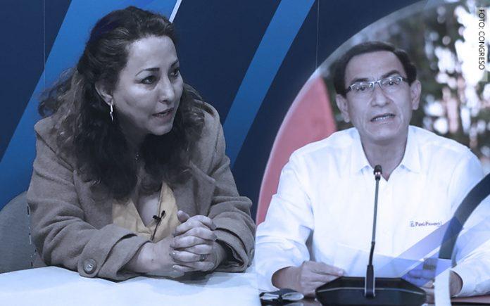 Maritza Espinoza - Martín Vizcarra (Foto: Congreso)