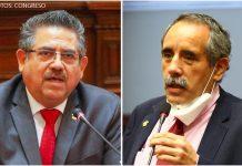 Manuel Merino - Ricardo Burga (Fotos: Congreso)
