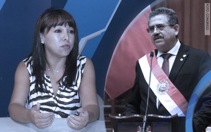 Mirtha Vásquez - Manuel Merino de Lama (Foto: Congreso)