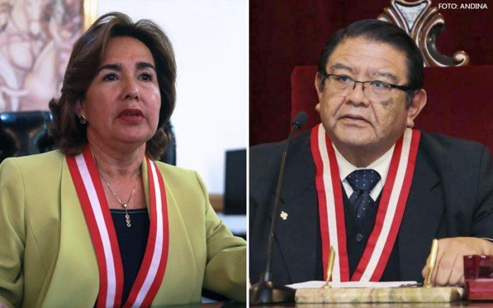 Elvia Barrios - Jorge Salas Arenas (Foto: Andina)