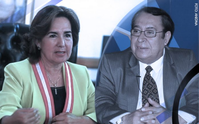 Elvia Barrios - Víctor Prado Saldarriaga (Foto: Andina)