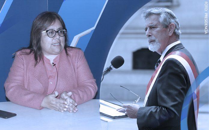 Giovanna Peñaflor - Francisco Sagasti (Foto: Presidencia)