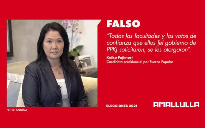 Keiko Fujimori - Foto: Andina