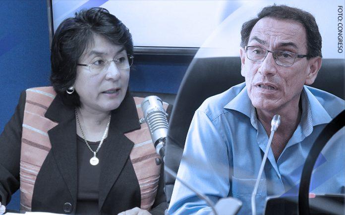 Marianella Ledesma - Martín Vizcarra (Foto: Congreso)
