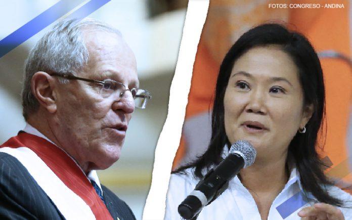 Pedro Pablo Kuczynski - Keiko Fujimori (Fotos: Congreso - Andina)