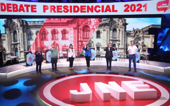 Debate JNE - César Acuña - Marco Arana - Keiko Fujimori - Verónika Mendoza - Alberto Beingolea - George Forsyth