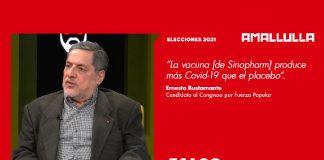 Ernesto Bustamante (Foto: Willax) Diseño: Red Ama Llulla