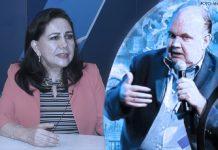 Gloria Montenegro - Rafael López Aliaga (Foto: Andina)