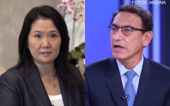 Keiko Fujimori - Martín Vizcarra (Fotos: Andina)