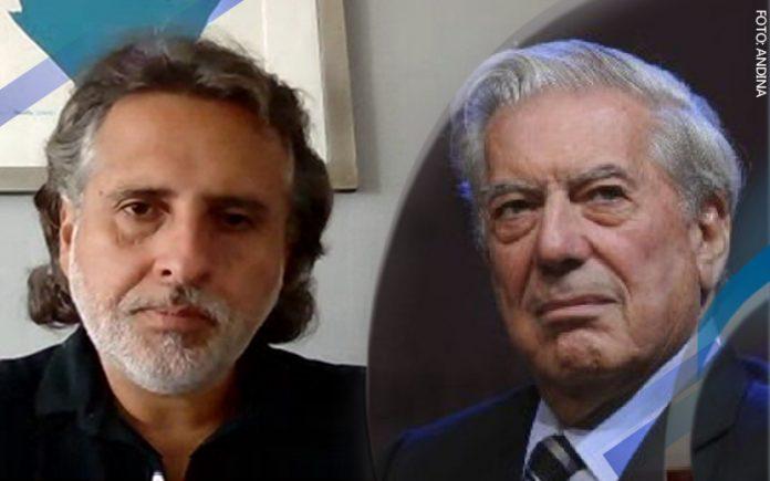 David Rivera del Águila - Mario Vargas Llosa (Foto: Andina)