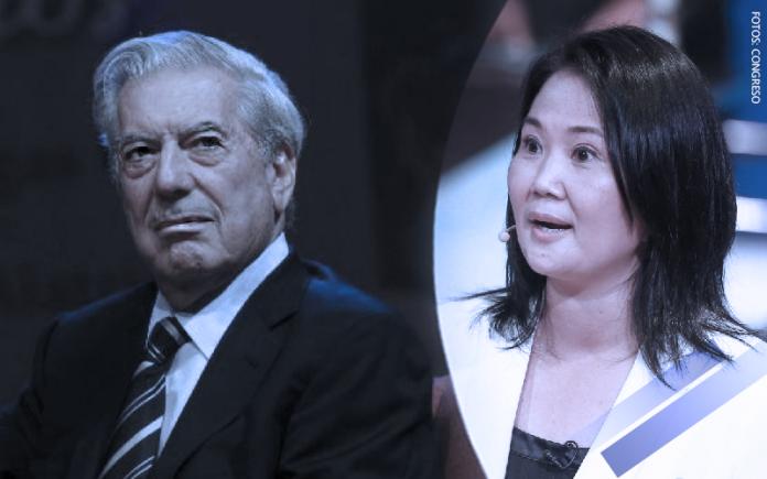 Mario Vargas Llosa - Keiko Fujimori (Fotos: Andina)