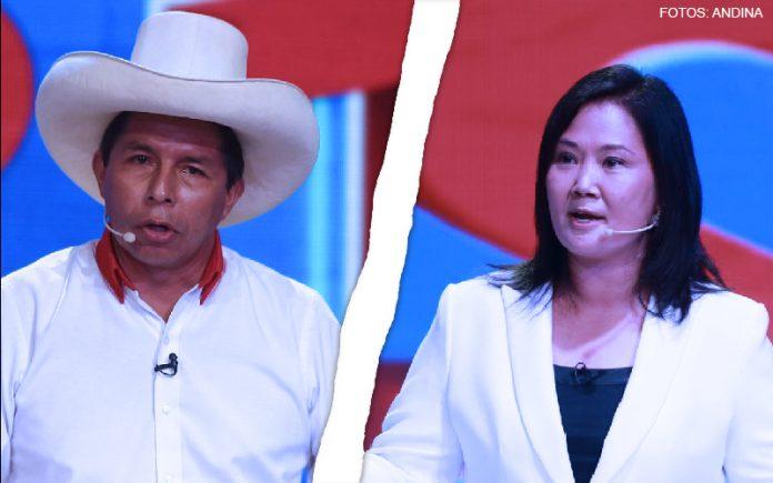 Pedro Castillo - Keiko Fujimori (Fotos: Andina)