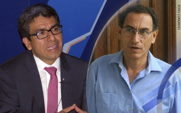 Pedro Grández - Martín Vizcarra (Foto: Congreso)