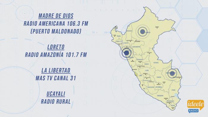 Ideeleradio - Madre de Dios - Loreto - La Libertad - Ucayali