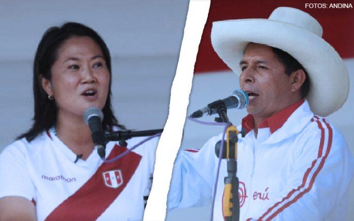 Keiko Fujimori - Pedro Castillo (Fotos: Andina)