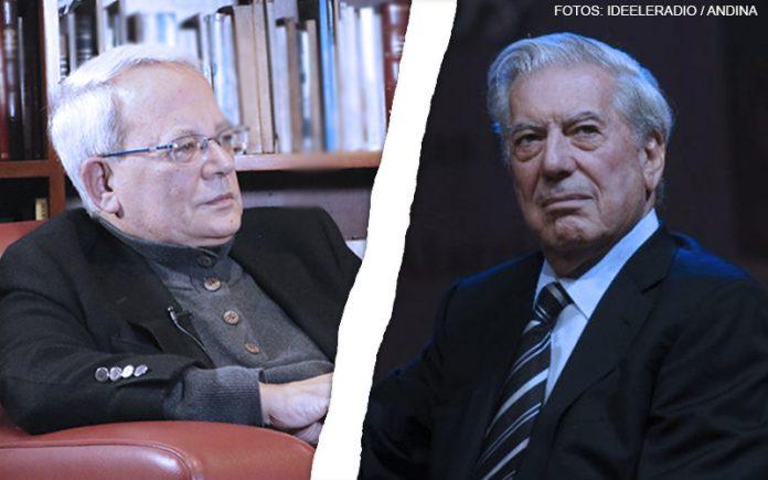César Hildebrandt - Mario Vargas Llosa (Fotos: Ideeleradio - Andina)