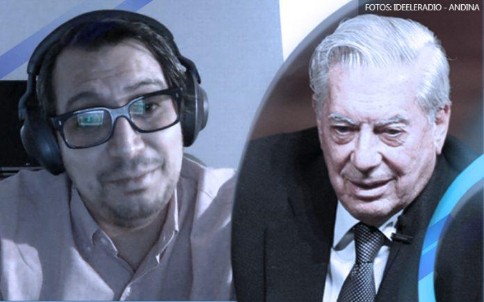Diego Salazar - Mario Vargas Llosa (Fotos: Ideeleradio - Andina)