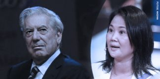Mario Vargas Llosa - Keiko Fujimori (Fotos - Andina)